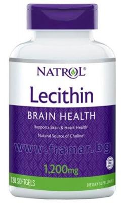 НАТРОЛ СОЕВ ЛЕЦИТИН капсули 1200 мг * 120