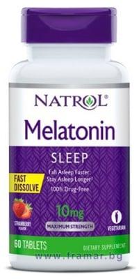 НАТРОЛ МЕЛАТОНИН бързоразтворими таблетки 10 мг * 60