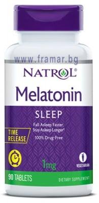 НАТРОЛ МЕЛАТОНИН TR таблетки със забавено освобождаване 1 мг * 90