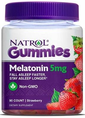 НАТРОЛ ГЪМИ МЕЛАТОНИН дъвчащи таблетки 5 мг. * 90