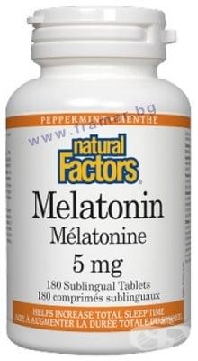 МЕЛАТОНИН таблетки 5 мг. * 180 НАТУРАЛ ФАКТОРС