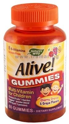 АЛАЙВ МУЛТИВИТАМИНИ ЗА ДЕЦА желирани таблетки * 60 NATURE'S WAY
