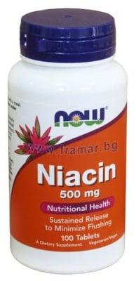 НАУ ФУДС ВИТАМИН Б 3 НИАЦИН табл. 500 мг. * 100