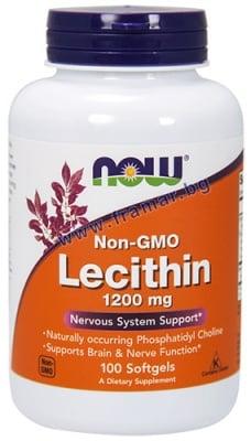 НАУ ФУДС ЛЕЦИТИН драже 1200 мг. * 100