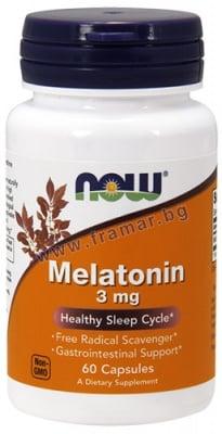 НАУ ФУДС МЕЛАТОНИН капс. 3 мг. * 60