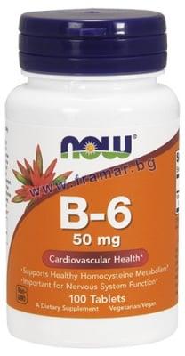 НАУ ФУДС ВИТАМИН Б 6 ПИРИДОКСИН табл. 50 мг. * 100