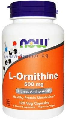 НАУ ФУДС Л-ОРНИТИН капсули 500 мг. * 120