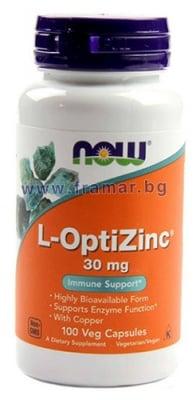 НАУ ФУДС L - ОПТИЦИНК капс. 30 мг. * 100