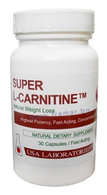 СУПЕР L - CARNITINE  капс. 1000 мг. * 30 USA LABORATORIES