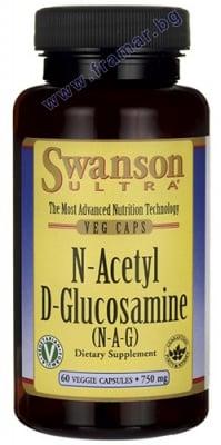 N-АЦЕТИЛ Д-ГЛЮКОЗАМИН 750 мг. * 60 капсули
