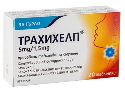 ТРАХИХЕЛП пастили 5 мг / 1.5 мг * 20