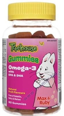 ОМЕГА-3 ЗА ДЕЦА 3+ желирани таблетки * 60 УЕБЪР НАТУРАЛС