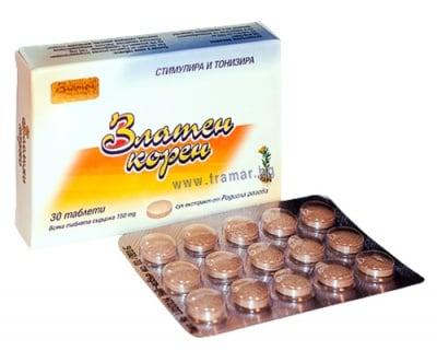 ЗЛАТЕН КОРЕН табл. 150 мг. * 30
