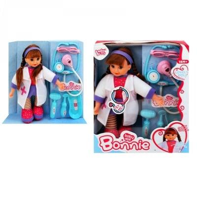 Кукла с докторски комплект /с машинка/
