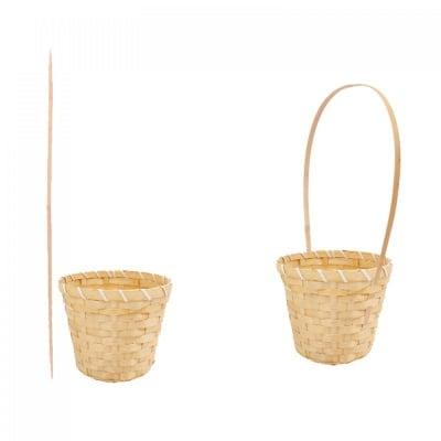 Кръгла кошница с подвижна дръжка, COSMOPOLIS