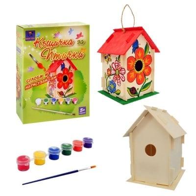 Дървена къщичка за птички - сглобяваш и оцветяваш