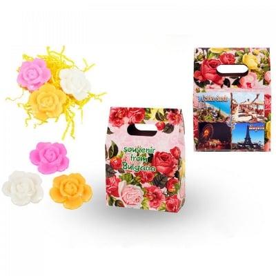 Подаръчна кутийка с магнит и 3 сапунчета