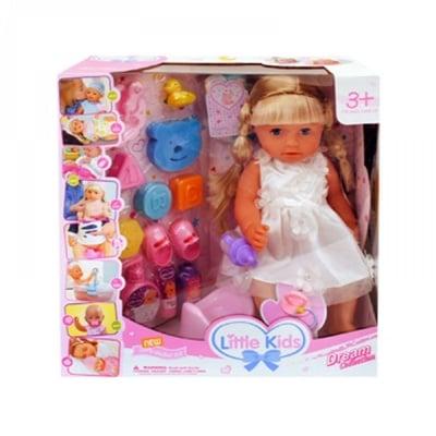 Пишкаща кукла с аксесоари