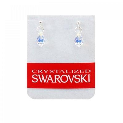 Сребърни обеци с кристал Сваровски, COSMOPOLIS