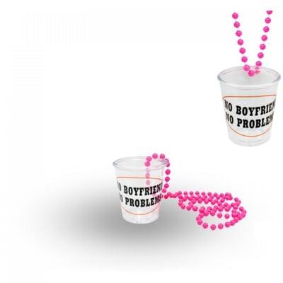 Чашка за шот с верижка -  No boyfriend-no problems, COSMOPOLIS