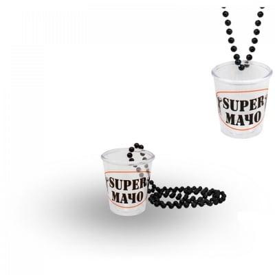 Чашка за шот с верижка -  SUPER МАЧО, COSMOPOLIS