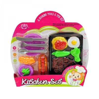 Комплект плоча с прибори и хранителни продукти