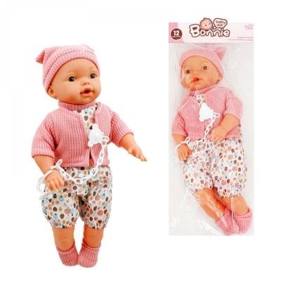 Кукла с биберон  - издава различни бебешки звуци