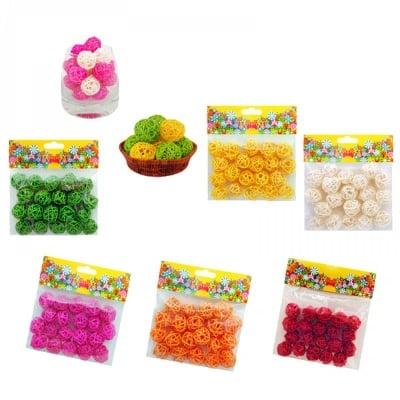 Плетени топчици за декорация - 20 броя