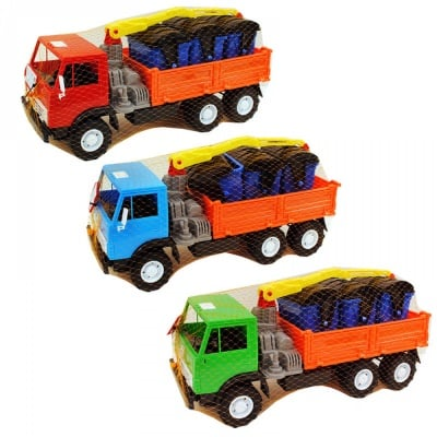Камион с контейнери за отпадъци