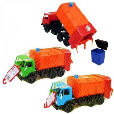 Камион с контейнер за отпадъци