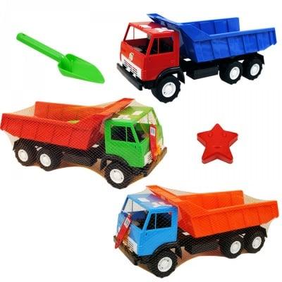 Камион с лопата и фигурка