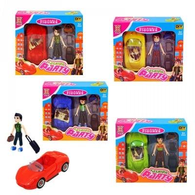 Комплект спортна кола и момче с куфари, COSMOPOLIS