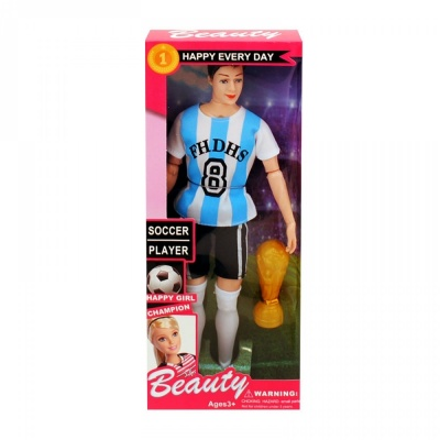 Кукла Футболист с купа