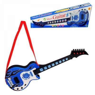 Електронна китара със светлинни ефекти, на батерии