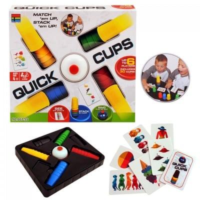Занимателна игра Бързи чашки
