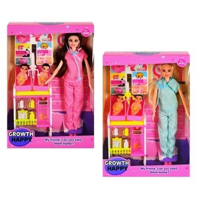 Кукла Доктор с две бебчета и аксесоари