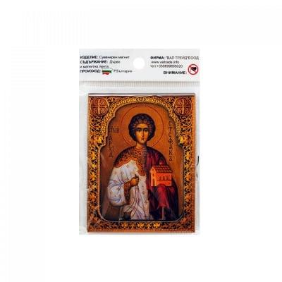 """Магнит - Икона """"Св. Стефан"""" /дърво/"""