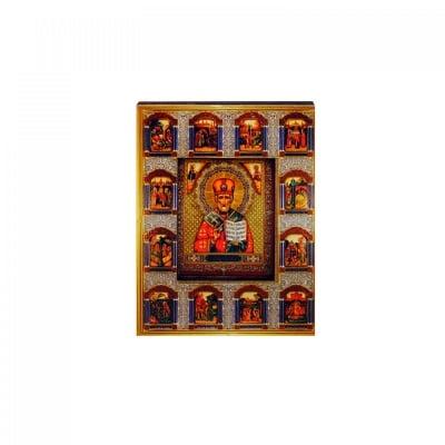 """Магнит - Икона """"Св. Николай Чудотворец"""" /дърво/"""