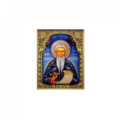 """Магнит - Икона """"Св. Иван Рилски"""" /дърво/"""