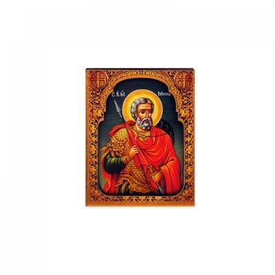 """Магнит - Икона """"Св. Мина"""" /дърво/"""
