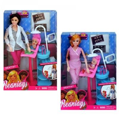 Кукла - Зъболекар с аксесоари и малка кукла