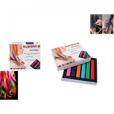 Цветни тебешири  за коса /6 броя/