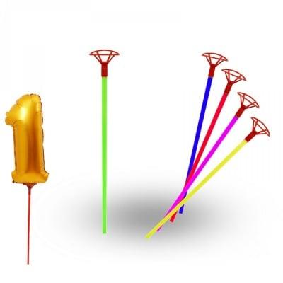 Пръчки за балони * 43см, различни цветове