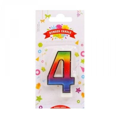 Свещички цифри - 4
