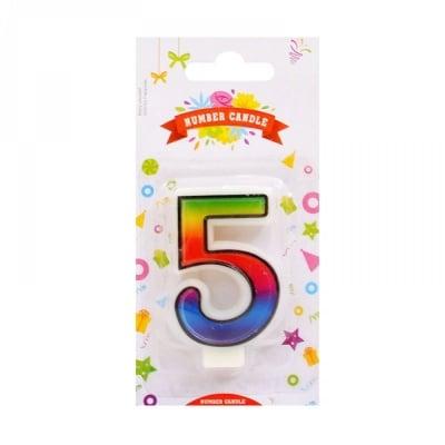 Свещички цифри - 5