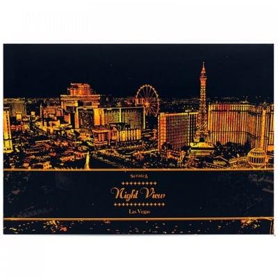 """Скреч листи """"Нощен изглед на Лас Вегас"""""""