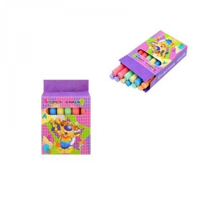 Цветни тебешири - 12 броя в кутия