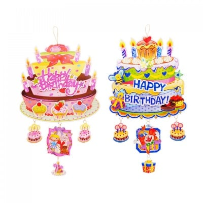 Парти украса 3D HAPPY BIRTHDAY