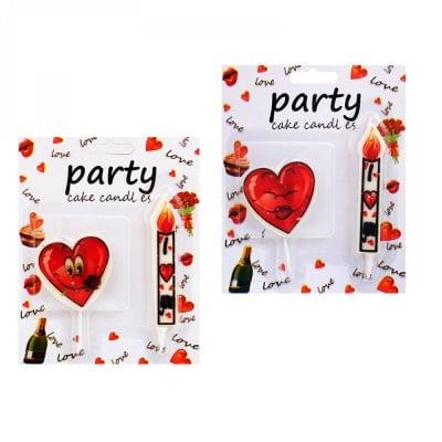 Комплект парти свещи LOVE