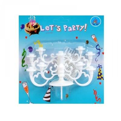 Свещички Happy Birthday - 10 бр. със сглобяема поставка, COSMOPOLIS